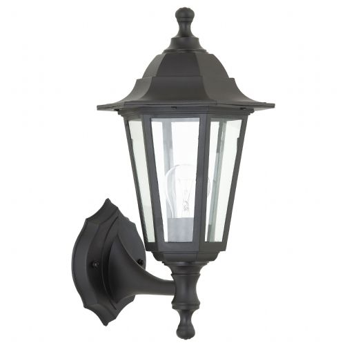 Polycarb 6-Sided Wall Lantern Black - Up And Down Reversible BXEL-40045-17 (Double Insulated)